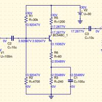 Diseño de un amplificador de audio en Emisor Común con Qucs