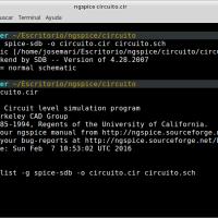Simulación con geda y ngspice en Linux
